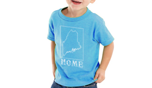 maine home shirt kids blue