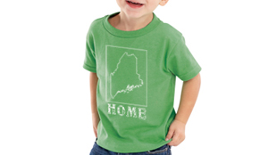 maine home shirt kids green