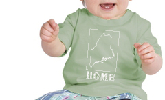 maine home shirt blue onesie