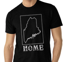 maine home shirt black v neck