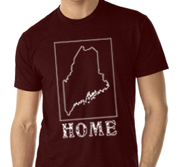 maine home shirt brown v neck
