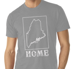 maine home shirt gray v neck