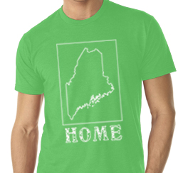 maine home shirt green v neck