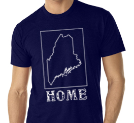 maine home shirt navy blue v neck