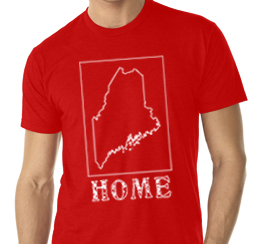 maine home shirt red v neck