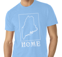 maine home shirt sky blue v neck